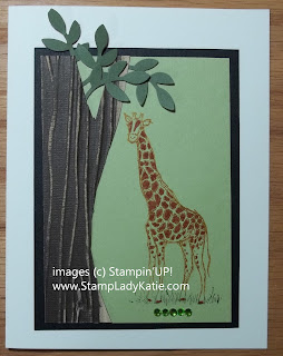 Card Made with Core'dinations Paper and Stampin'UP! Zoo Review Stamp Set