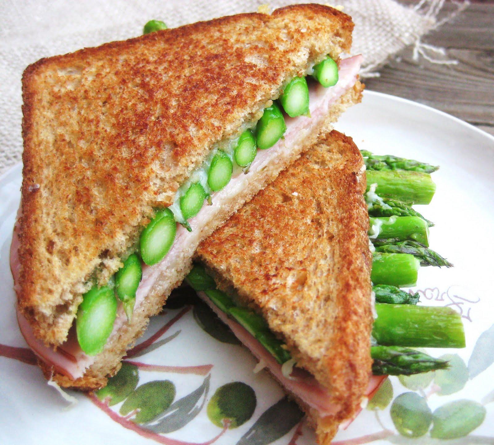 grilled ham asparagus and gruyère sandwich makes 1 sandwich ...