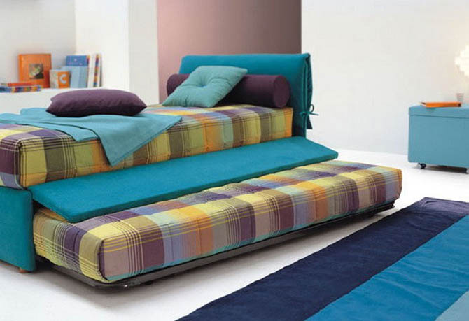 Modern Colourful Bed Idea For Small Room.