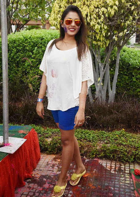 Madhu Shalini  Holi Celebrations Pictures 3.jpg