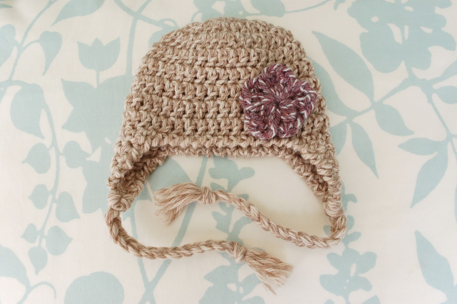 Alli Crafts Earflap Hat Newborn Pattern Updated