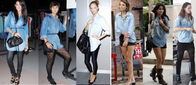 C mo usar camisa de jean bebloggera for Combinar camisa vaquera negra hombre