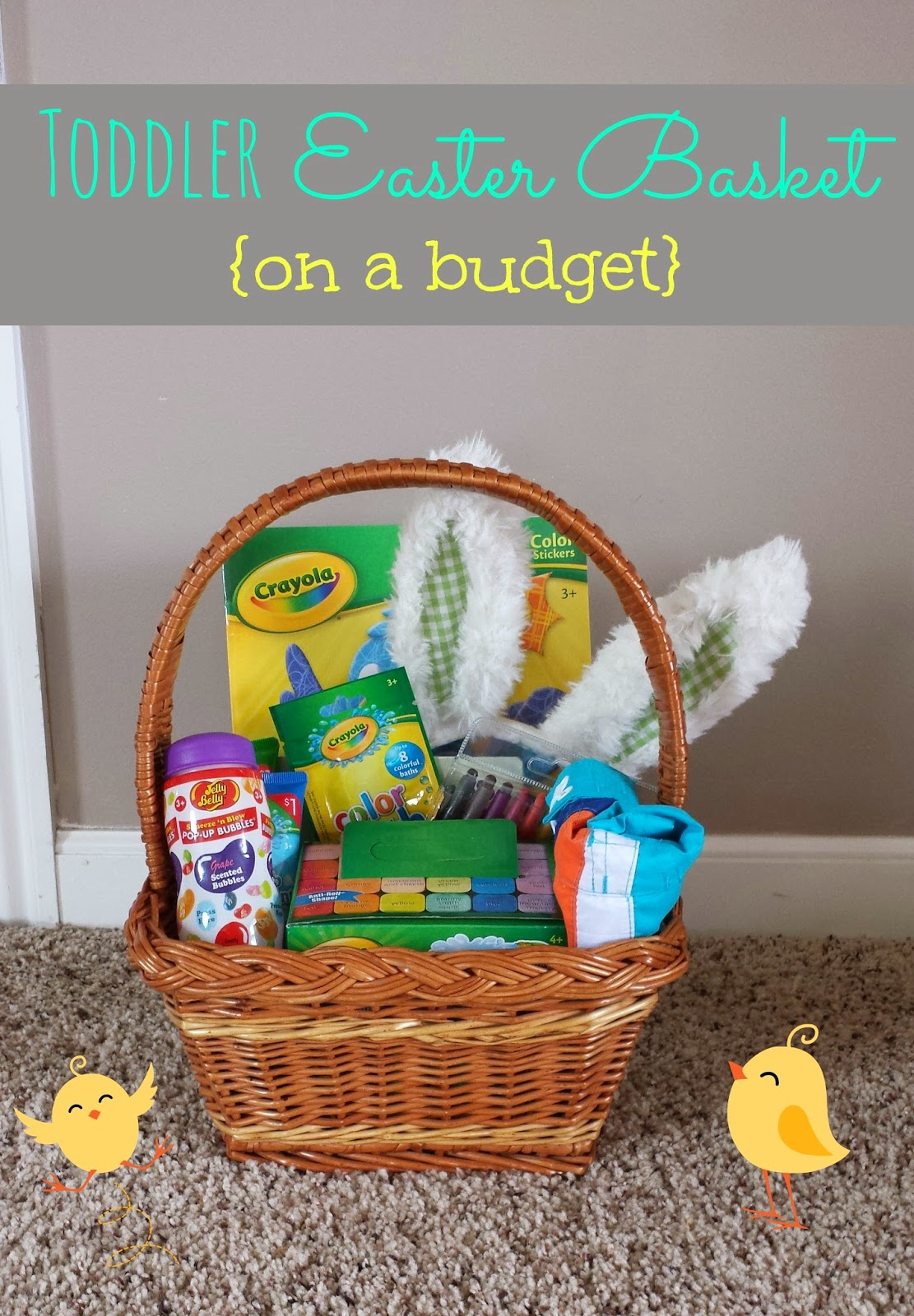 Simple suburbia toddler easter basket ideas here is what i came up with for a toddler easter basket on a budget negle