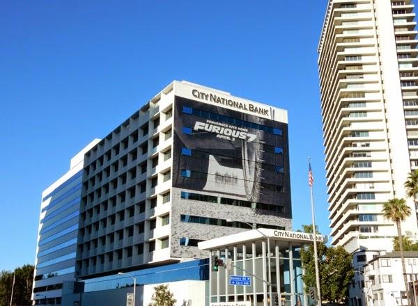Giant Furious 7 movie billboard