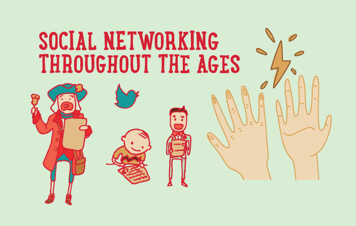 The History of Social Networking Throughout The Ages - infographic