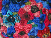 Thanks Alice Fraizer for the bright wool to incorporate into this rug