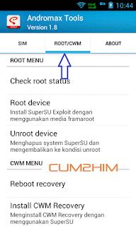 Cara Root dan Install CWM Dengan Andromax Tools