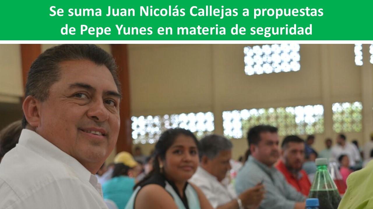 propuestas de Pepe Yunes en materia de seguridad