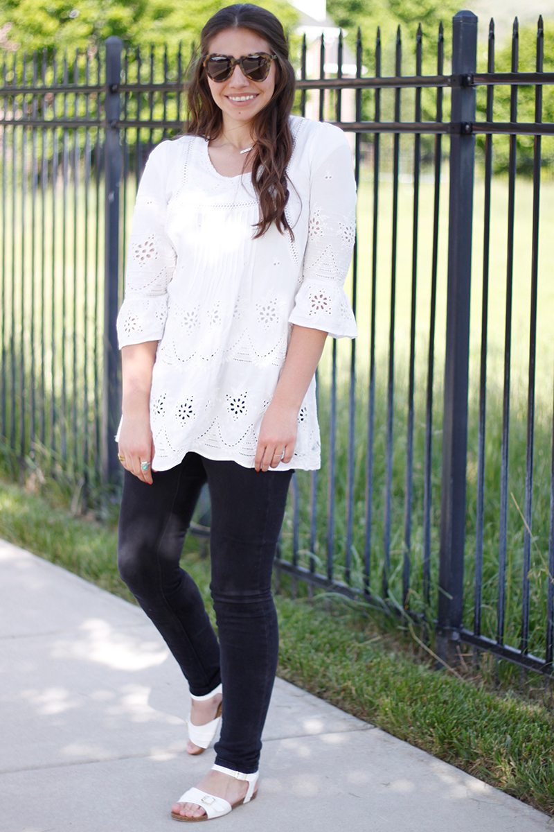 free people white tunic