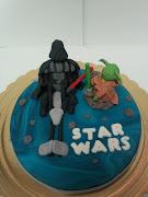 TARTA STAR WARS. Esta es una tarta dedicada a dos personajes de star wars (o .