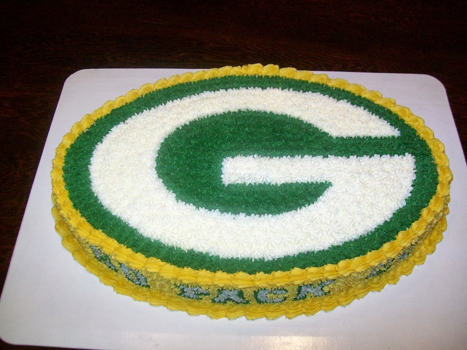 Green Bay Packers Jersey Cake