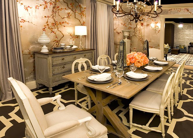 Beautiful dining rooms prime home design beautiful for Decorative pictures for dining room