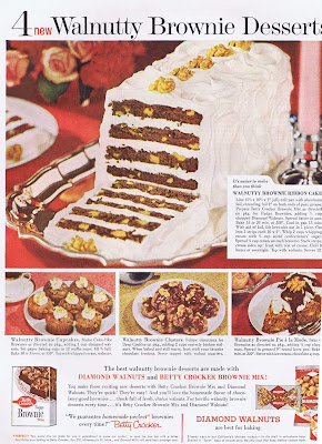 Vintage 1960 walnut dessert recipes