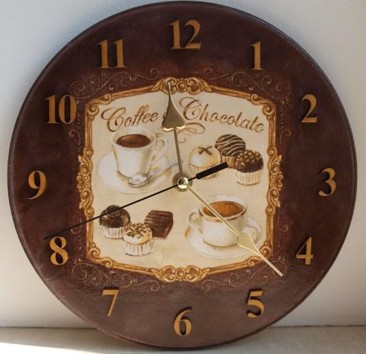 Часы в кофейном стиле своими руками 65