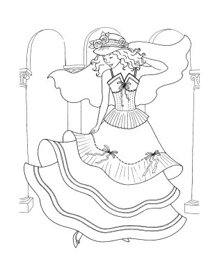 The Wedding Dresses Princess Coloring Sheet To Print