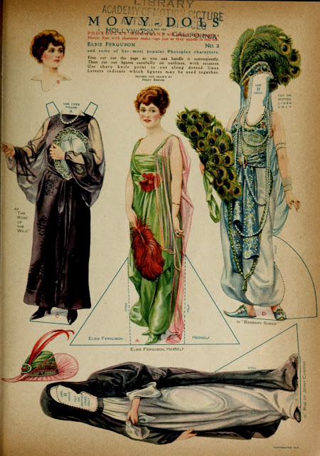elsie ferguson paper doll photoplay 1919
