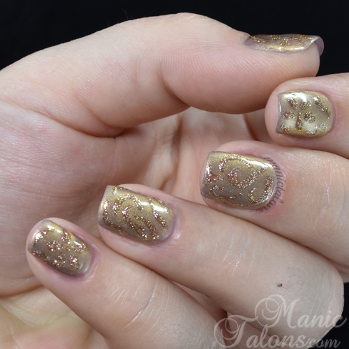 Antique Nails with Madam Glam Gel Polish Metallic Nude and My Jewels