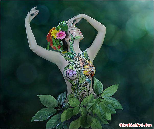 Ảnh gái đẹp sexy với body painting Phần 2 19