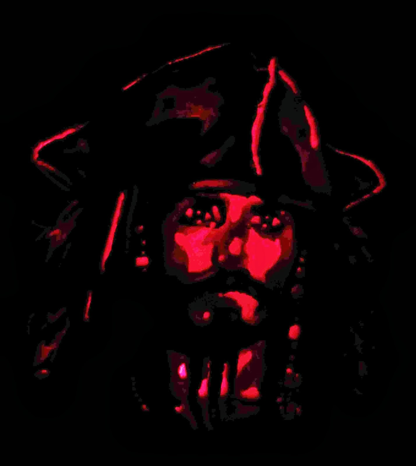 2011 Captain Jack Sparrow Halloween Pumpkin
