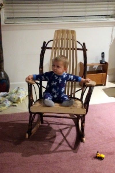 A little TV on the Rocking Chair before bed.