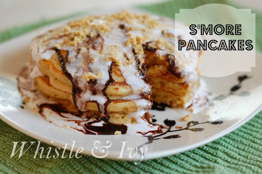 S'more Pancakes - Bring a favorite camping treat to the breakfast table with this easy and delicious pancake recipe!