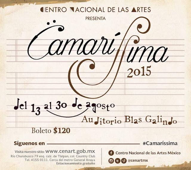 Festival de música de cámara Camaríssima en el Centro Nacional de las Artes