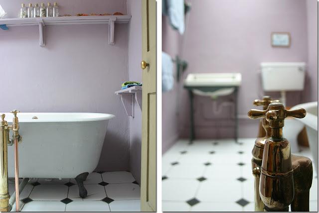 Vasca da bagno co shabby chic interiors - Pareti vasca da bagno ...