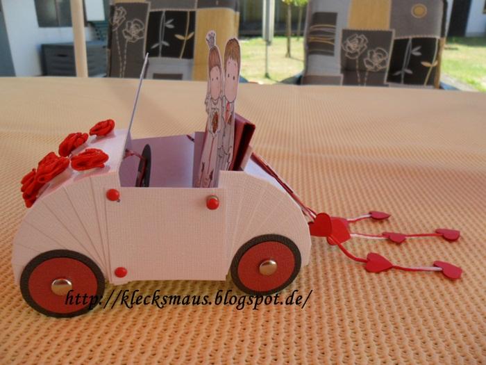 Klecksmaus Kreativ: Hochzeitsauto