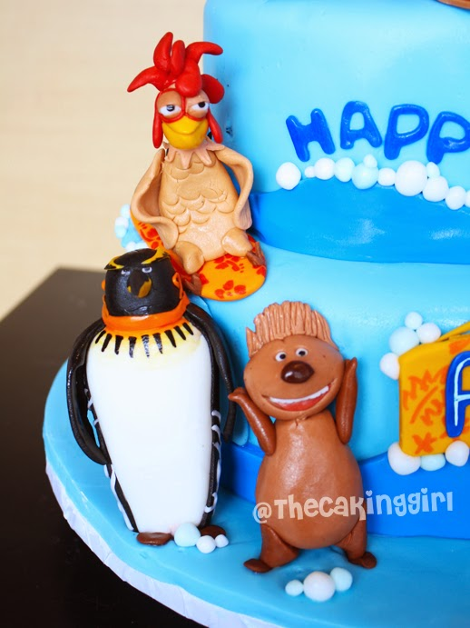 best surfs up cake, gumpaste figurines