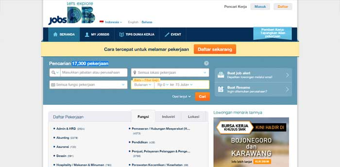 Situs Lowongan Kerja JobsDB