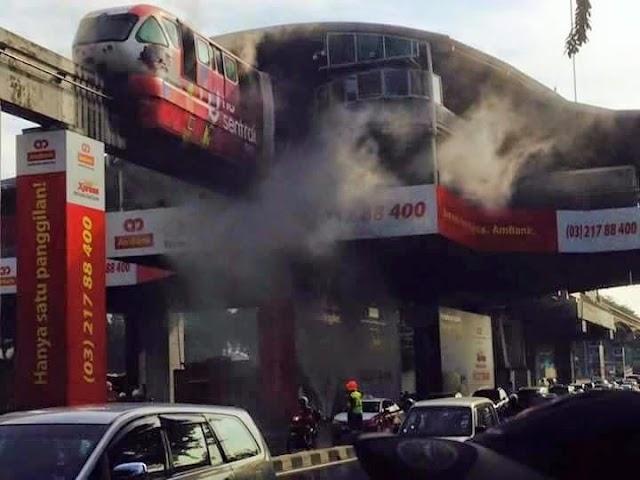Monorail Titiwangsa Terbakar