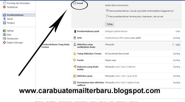 berikut tadi cara agar pemberitahuan facebook tidak masuk ke Inbox