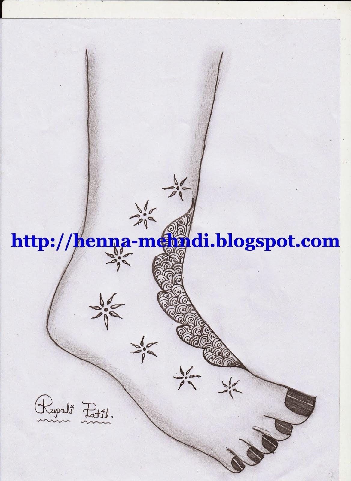 Simple Mehndi Design For Leg Henna Mehndi Designs Body Art Tattoo