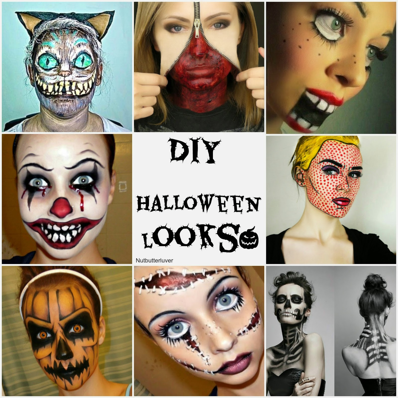 diy creepy halloween makeup looks - nutbutterluver