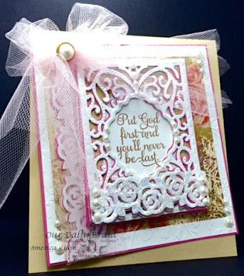 Our Daily Bread Designs Stamp sets: Belles Vignes, ODBD Custom Dies: Vintage Flourished Pattern, ODBD Blushing Rose Paper Collection