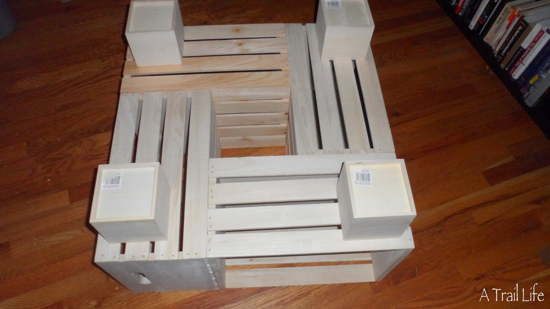 Diy furniture crate coffee table diy craft projects for Diy crate furniture