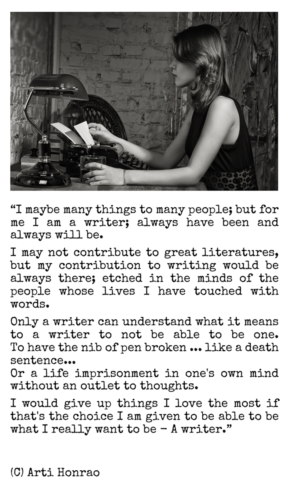 Once a writer; <br>always a writer...