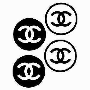 chanel logo sticker chanel logo 300 sassystickerscom. Black Bedroom Furniture Sets. Home Design Ideas