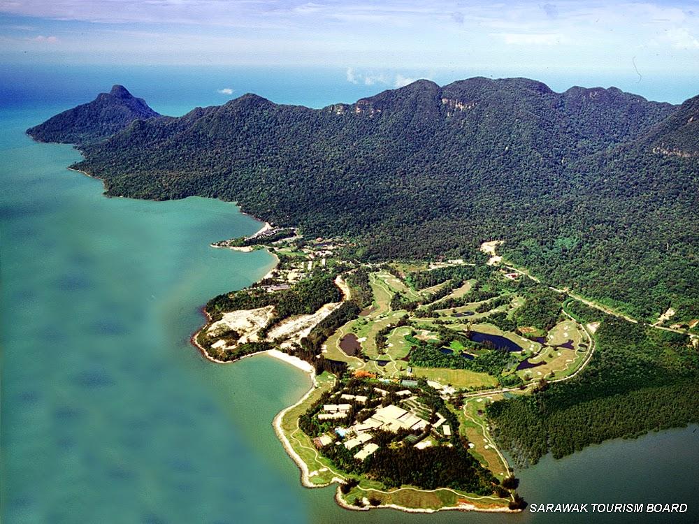 Aerial view of Santubong Sarawak