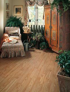 hardwood flooring in a garden room