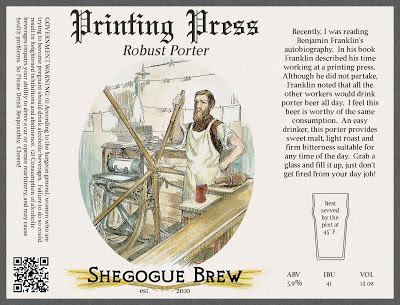 Printing Press Porter Label