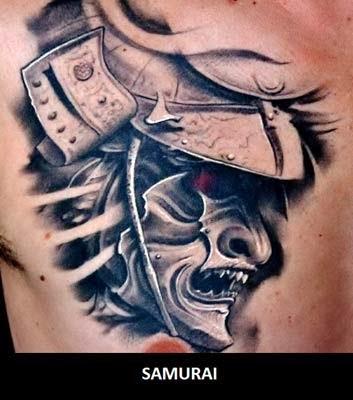 Melhores tatuagens de samurai mask