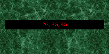 What is the difference between 2G, 3G, 4G, mobile networks?
