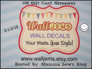 Enter for your chance to win a $50 gift card to Wall Jems Etsy Shop. Ends 8/15