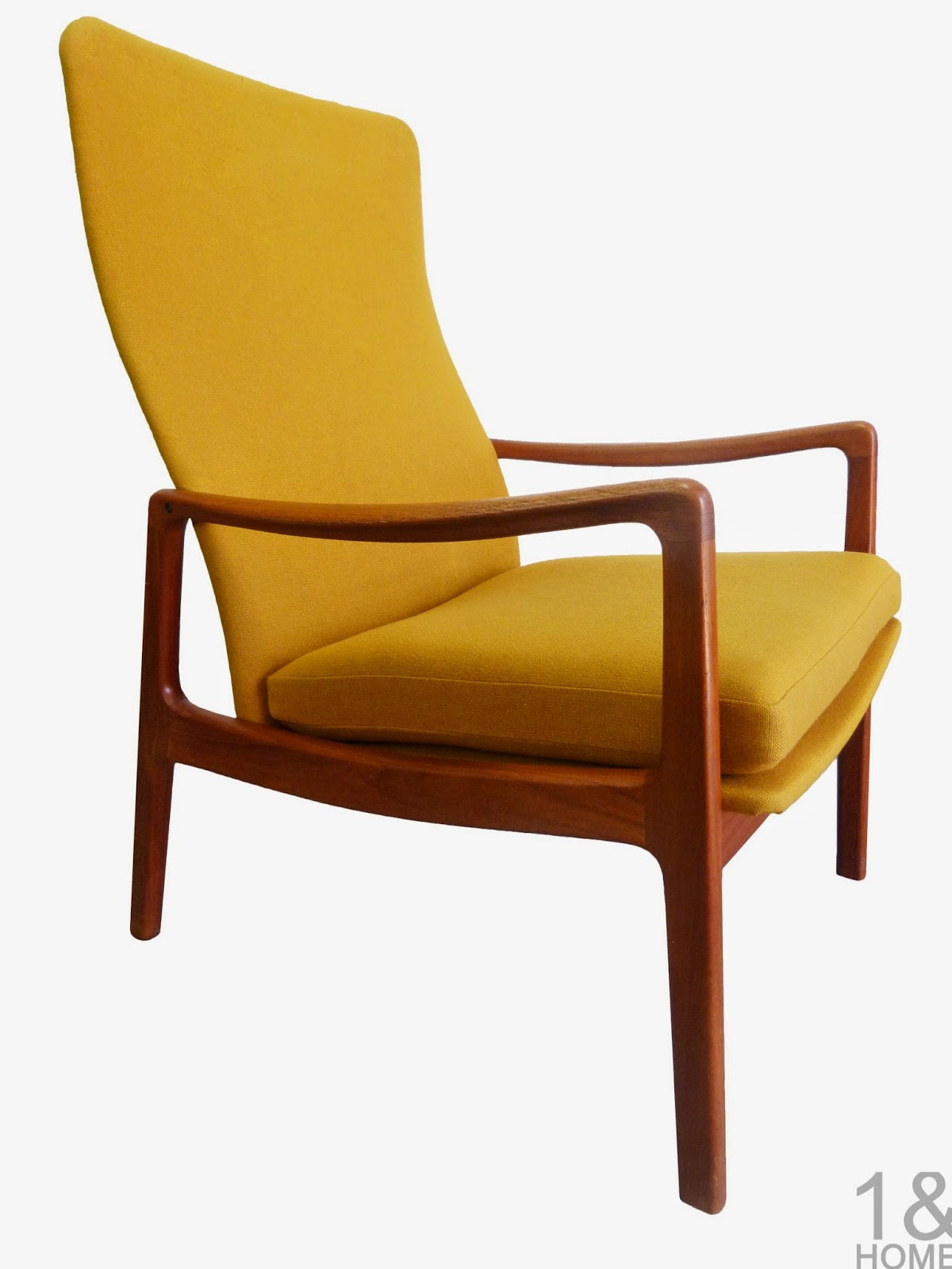 Danish Modern, teak, high-back lounge armchair by Ole Wanscher for France & Sons of Denmark.