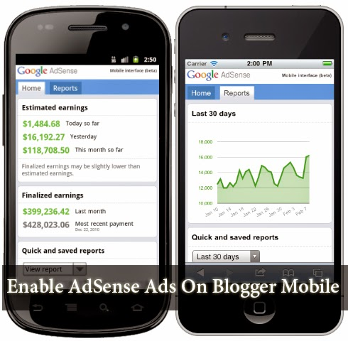 AdSense for Blogger mobile