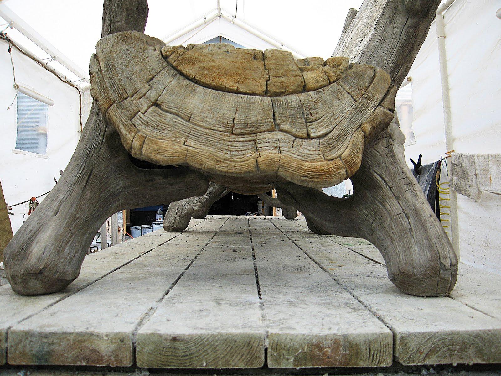 Faux Bois Cement : Faux bois in concrete