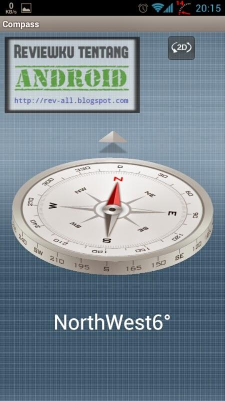 Tampilan 3D COMPASS - Ketahui arah mata angin menggunakan kompas 3D di android (rev-all.blogspot.com)