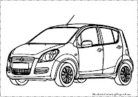 Suzuki Splash coloring page