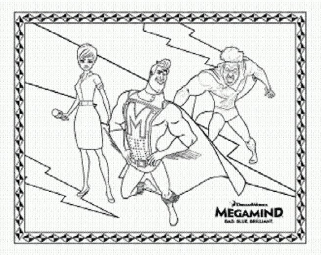 superhero megamind coloring pages - Megamind Coloring Pages Printable